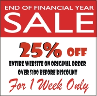 25% OFF FINANCIAL YEAR SALE