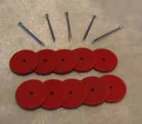 9mm RED FIBRE JOINT SET