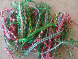 BRAID GREEN WITH RED