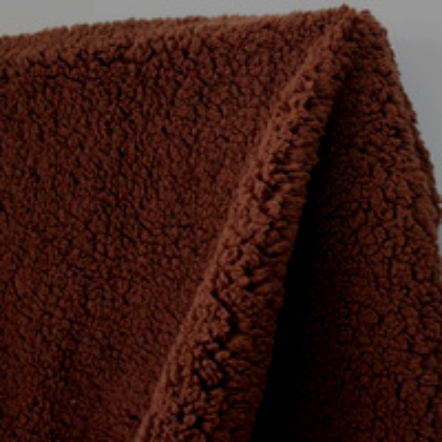FAUX SHEEP WOOL - DARK CHOCOLATE