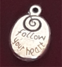 FOLLOW YOUR HEART CHARM