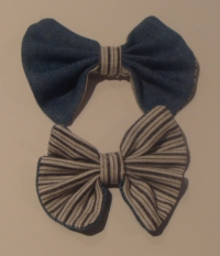 DENIM BOW TIES
