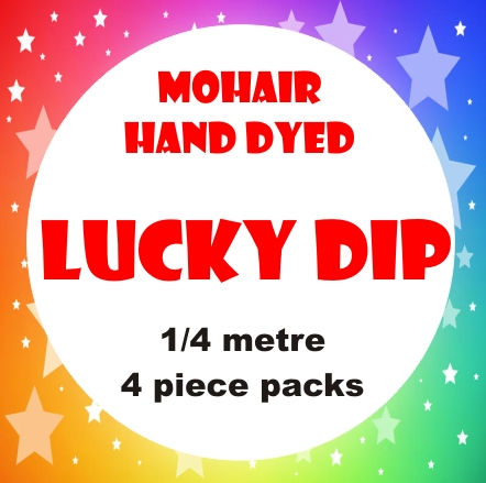 LUCKY DIP 1/4M HAND DYED - 4 pce PACK