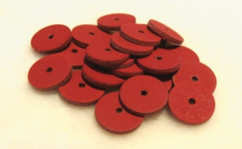 16MM RED FIBRE DISCS 100 PACK