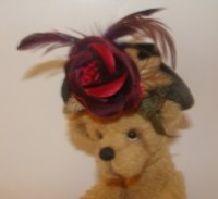 VELVET ROSE & FEATHER HATS - SMALL