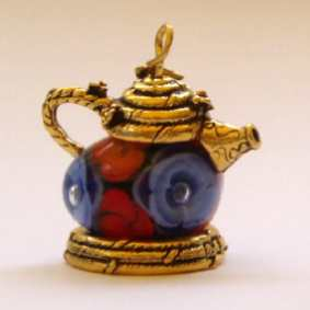 TEA POT BEAD HOLDER