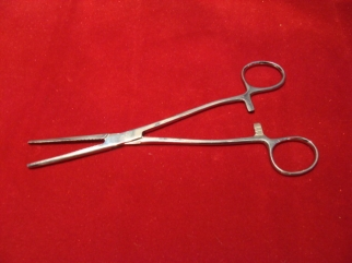 Forceps large straight 8""