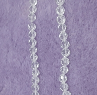 NATURAL FACETED CRYSTAL BEAD